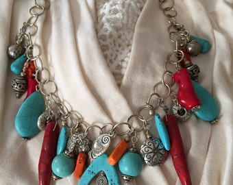 Navajo inspired necklace