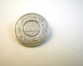 GDB Engraved Silver Love Token Pin Host Coin Seated Liberty Quarter Mid 1800s