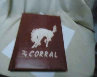 Vintage 1950 The Corral Yearbook Odessa High School, Odessa Texas, annual, collectable