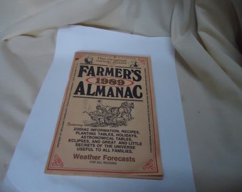 Vintage Farmers Almanac 1989, collectable, ephemera, Agriculture