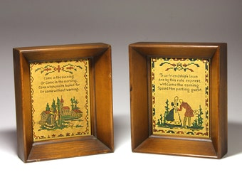 Vintage Deep Set Wooden Frames, Needlepoint Frames - circa 1940's