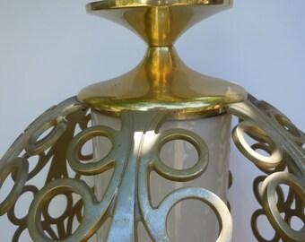 Mid Century Modern Hanging Globe Light