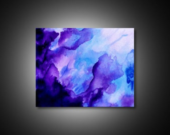 Purple Painting -  abstract canvas art, purple wall art, unique wall art,  abstract art painting, PRINT on CANVAS, fluid acrylic painting