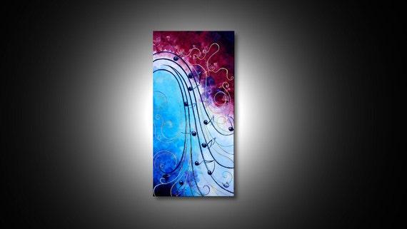 Abstract Music Notes Art: Music Notes Abstract Wall Art Sheet Music Art Print By GossArt