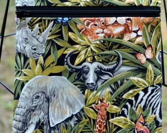 Handmade Exotic Animal Jungle Animal Cross Body Bag, Hipster, Travel Bag
