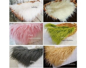 Long Pile Faux Fur Fabric Props, Newborn Photo Prop, Fur Layering, Basket Filler, Newborn Backdrop, Photo Backdrops, Prop Fur, Craft Fur