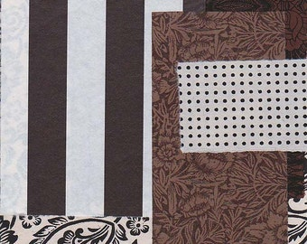brown & natural paper scrap pack
