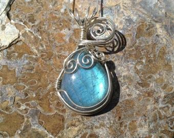 Labradorite necklace in argentium sterling silver..