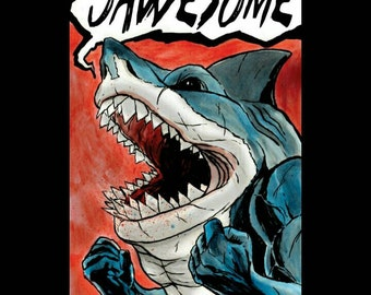 Street Sharks - Jawesome - Print - Signed by the Artist - Jason Flowers