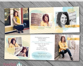 Water Color Grad Ann 5- custom photo templates for photographers on Whcc, Millers and ProDigitalPhot