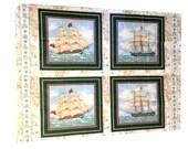 Ship Fabric Panels, Nautical Fabric, Ship Fabric, Cut and Sew, Boat Fabric, Ship Material, Boat Material, Nautical Material, Craft Fabric