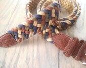 Colorful Woven Vintage Belt ~ Size 38