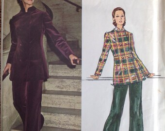 Vintage VOGUE COUTURIER PUCCI Misses' Evening Suit Sewing Pattern with Label, Factory Folded