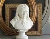 Victorian Copeland Crystal Palace Art Union Parian Ware Bust of John Milton