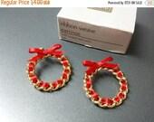 CIJ 60% SAVINGS Avon Ribbon Weave   Pierced earrings Mint Condition  original box 1988