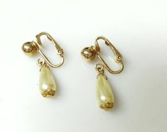 Sarah Coventry Clip Earrings Wedding Drops