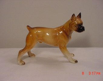 Vintage Male Boxer Dog Figurine   16 - 176