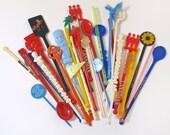Vintage Swizzle Sticks Group of 31