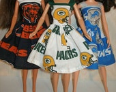 """Handmade 11.5"""" Fashion doll clothes - Your Choice - Choose 1 - Bears, Green Bay or Lions"""