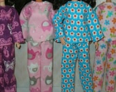 """Handmade 11.5"""" fashion doll clothes - Your Choice -- flannel pajamas"""