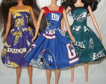 """Handmade 11.5"""" Fashion doll clothes - Your Choice - Choose 1 - Vikings, Giants or Eagles"""