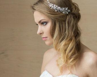 Pearl wedding hair comb, Crystal bridal hair comb, Wedding hair accessories, Crystal hair comb, Bridal Hair accessories, crystal headpiece