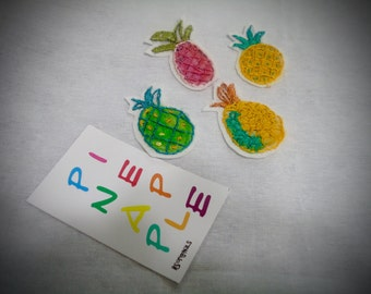 Pineapple Applique patch, summer patch, pineapple patch, applique DIY, Pineapple brooch