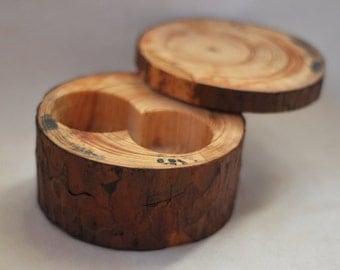 Wooden Box •  Ring Bearer Pillow •  Pine Wood Box