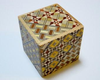 Japanese Puzzle box (Himitsu bako) 54mm (2.1inch) Kaku Cube 10steps Yosegi