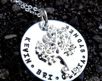 15% off - I Am Complete. Custom Sterling Family Tree Necklace.