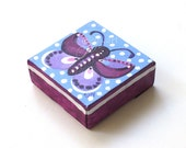 Purple Butterfly Mini Painting, The Daily Doodle 9.8.15, 4x4 acrylic Mini Painting