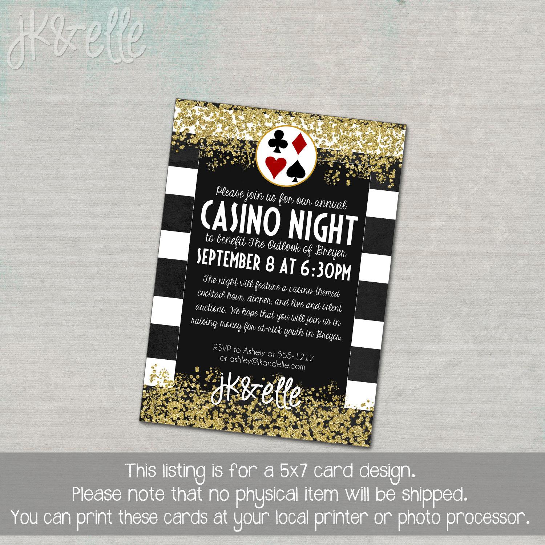 Casino night invitations online gambling planet