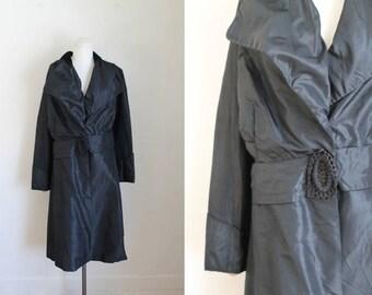 antique 1910s silk jacket - WALKING JACKET edwardian coat / S