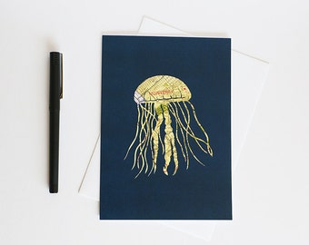 Monterey Jellyfish // Greeting Card Art Print // 5x7 Ready to frame