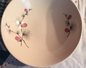 Vintage Clover Serving Bowl Skyline Canonsburg Pottery Made in The USA #3547