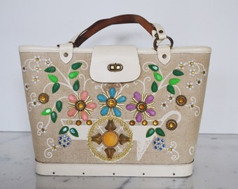 Enid Collins Vintage Bag: Flower Cart