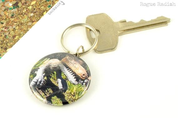 dinosaur keychain dino sparkly key chain velociraptor key. Black Bedroom Furniture Sets. Home Design Ideas