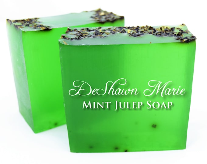 SALE SOAP - 3 lb. Spearmint (Mint Juelp) Vegan Handmade Soap Loaf, Wholesale Soap Loaves