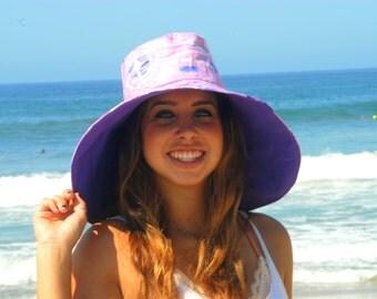 Pisces Sun Hat  Zodiac Sign Unique Gift for Friend Wide Brim Summer Hat by Freckles California