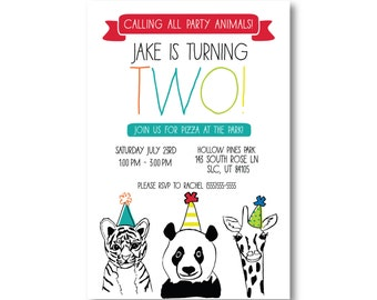 ZOO Party Animals Birthday Party - Digital