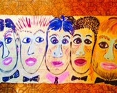 FIVE YOUNG MEN reduced 1/2 price Original Painting