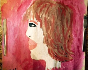 Self Portrait original painting by Nita marked 1/2 off