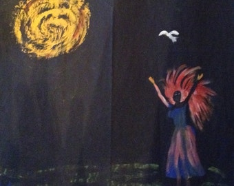Reach for Peace original painting