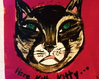 Here, Kitty Kitty original painting marked 1/2 off