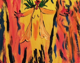 The Devil in Fire original painting---- marked 1/2 off