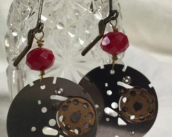 Red Watch Part Earrings