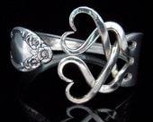 Silver Fork Bracelet, Wedding Jewelry, Wedding Bracelet, Something Old, Eco Wedding, Vintage Wedding, Weaving Hearts Design