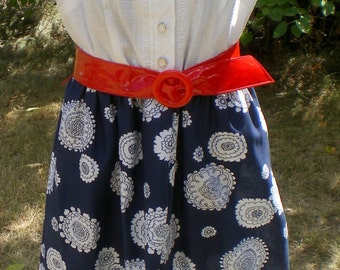 """Vintage 1960's """"Holly Hill"""" Dress**With 2 Belts**"""