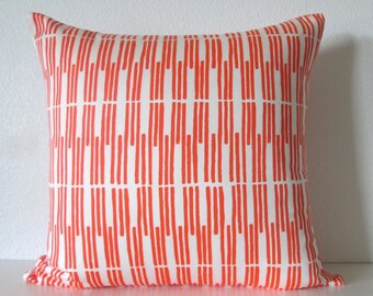 Josi Severson bright orange geometric stripes decorative pillow cover