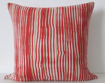 Hable Cayenne Stripe 20x20 decorative pillow cover